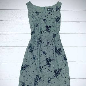 Dawn Joy Fashions Green/Black Print Dress xs